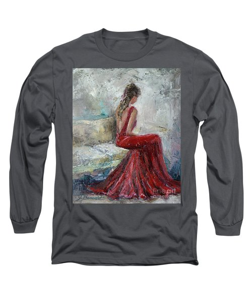 Long Sleeve T-Shirt featuring the painting The Moment by Jennifer Beaudet