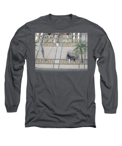 Long Sleeve T-Shirt featuring the photograph The Money Is Here But Where Are All The People Besides These Two by Marie Neder