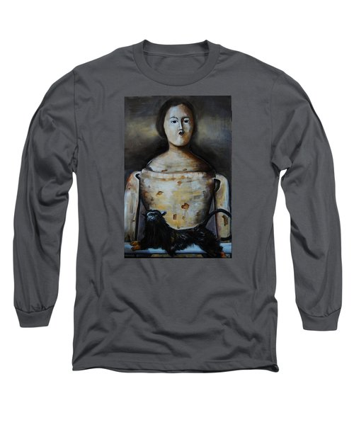 The Monkey And The Mannequin Long Sleeve T-Shirt