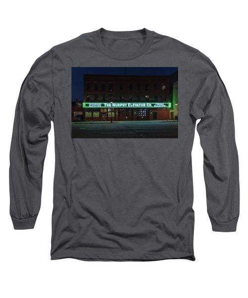 Long Sleeve T-Shirt featuring the photograph The Murphy Elevator Company by Randy Scherkenbach
