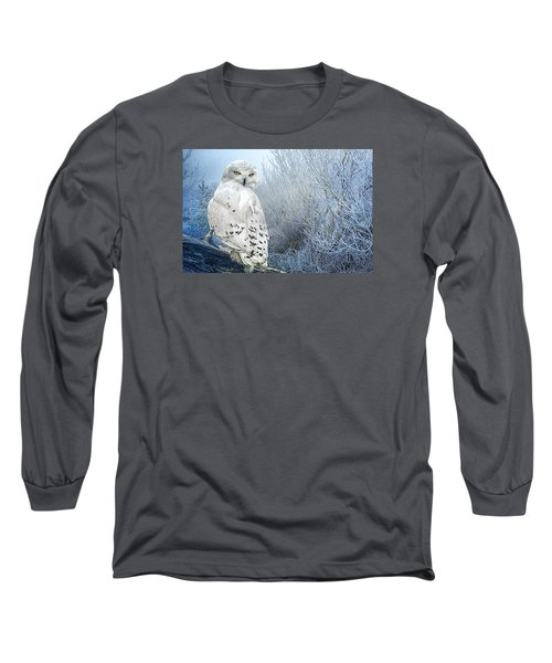 Long Sleeve T-Shirt featuring the photograph The Mystical Snowy Owl by Brian Tarr