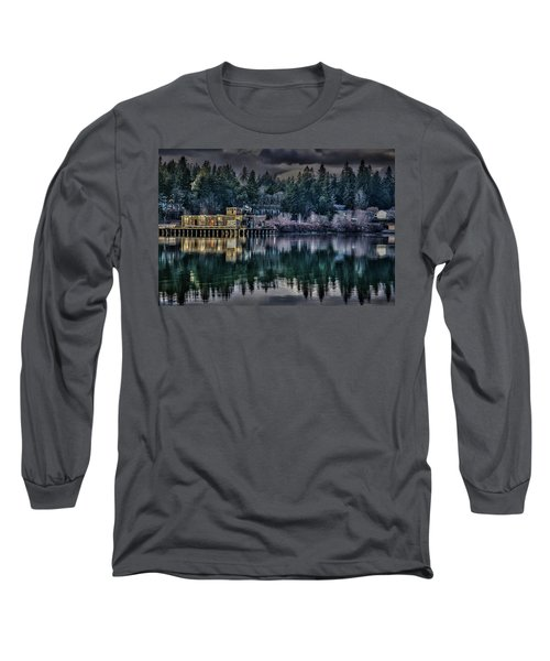 Long Sleeve T-Shirt featuring the photograph The Navy Base P1 by Timothy Latta