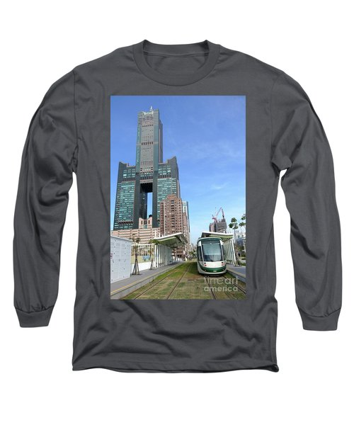 Long Sleeve T-Shirt featuring the photograph The New Kaohsiung Light Rail Train by Yali Shi