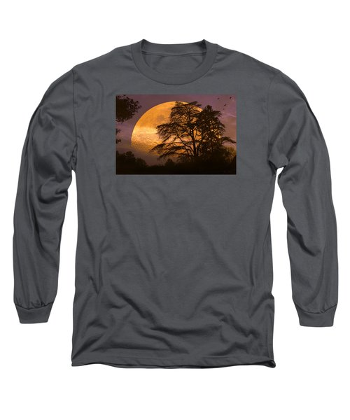 The Night Is Calling Long Sleeve T-Shirt by John Rivera