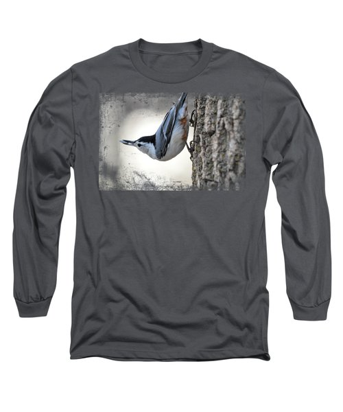The Nuthatch 2 Long Sleeve T-Shirt by Bonfire Photography