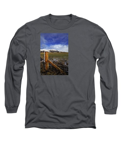 Long Sleeve T-Shirt featuring the photograph The Ochils In Winter by Jeremy Lavender Photography