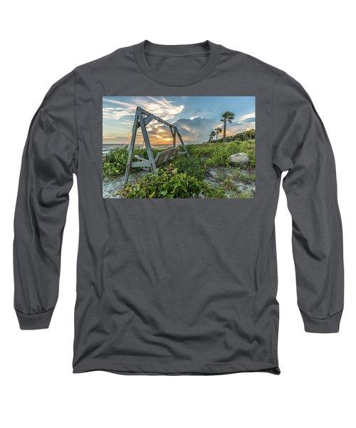 The Old Beach Swing -  Sullivan's Island, Sc Long Sleeve T-Shirt