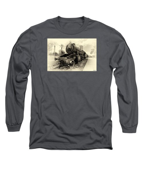 The Old Locomotive Long Sleeve T-Shirt by Uri Baruch