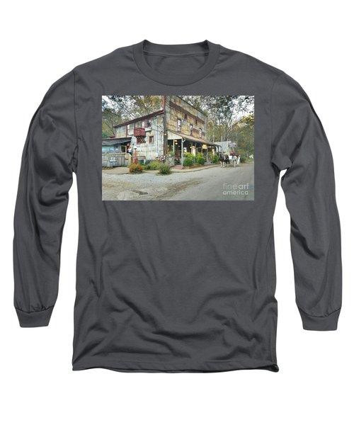 The Old Story Inn 1851 Nashville Indiana - Original Long Sleeve T-Shirt by Scott D Van Osdol