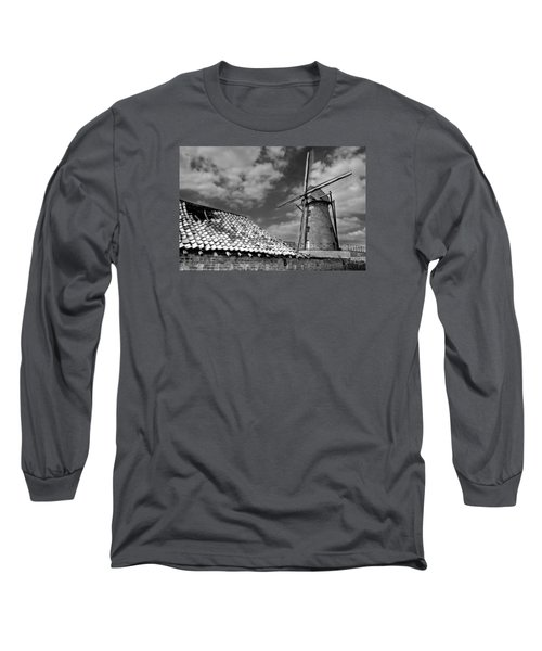 The Old Windmill Long Sleeve T-Shirt by Jeremy Lavender Photography