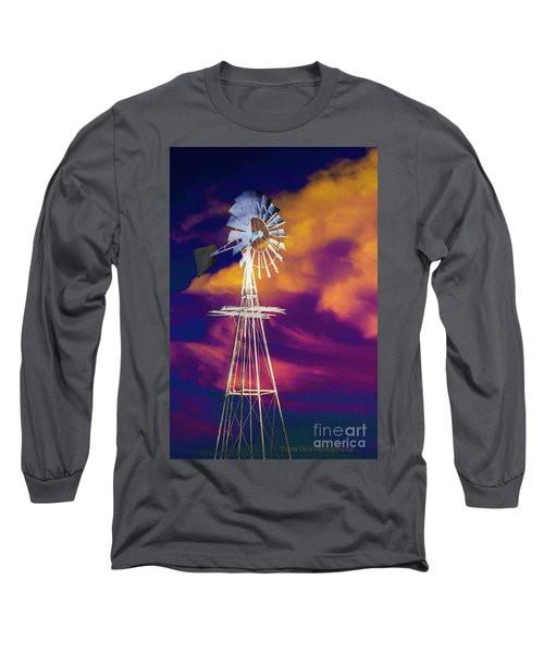 The Old Windmill  Long Sleeve T-Shirt by Toma Caul
