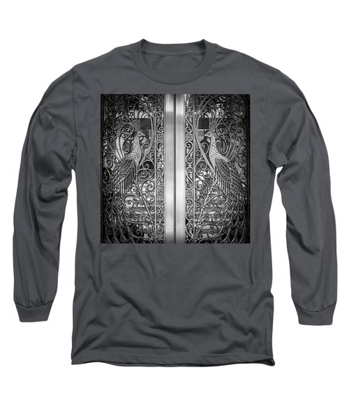 The Peacock Door Long Sleeve T-Shirt by Howard Salmon