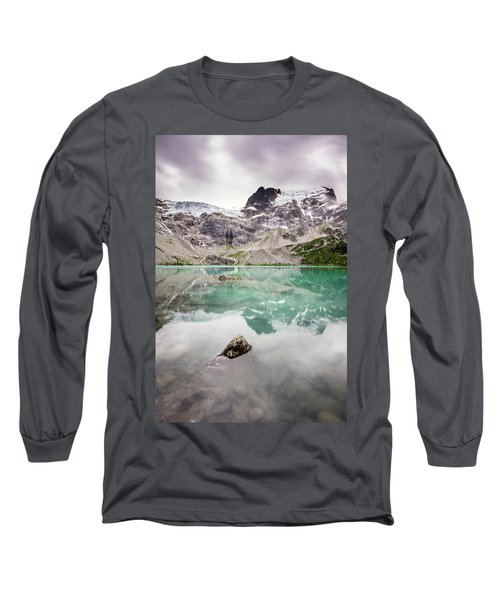 Long Sleeve T-Shirt featuring the photograph The Peak In A Turquoise Lake by Pierre Leclerc Photography