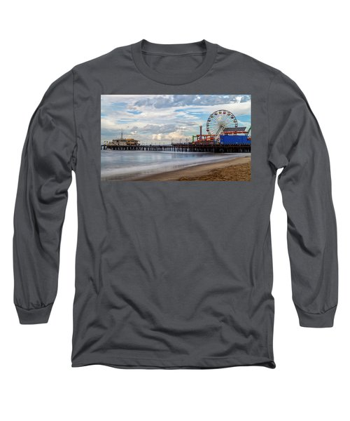 The Pier On A Cloudy Day Long Sleeve T-Shirt