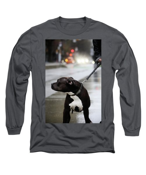 The Pits Of Curbs  Long Sleeve T-Shirt by Empty Wall