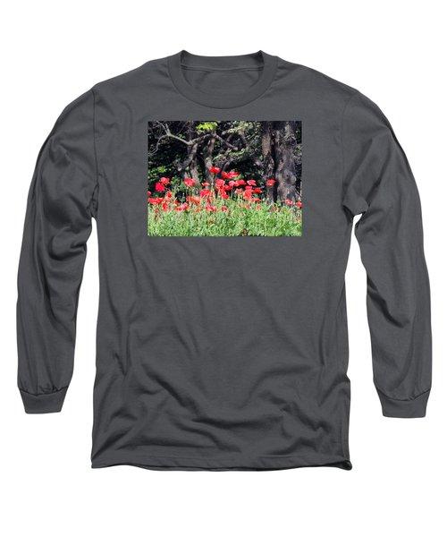 The Poppy Garden Long Sleeve T-Shirt by Teresa Schomig