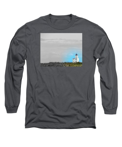 The Powerful  Lighthouse On Lake Michigan Long Sleeve T-Shirt