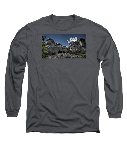 Long Sleeve T-Shirt featuring the photograph The Presidents Of Mount Rushmore by Deborah Klubertanz