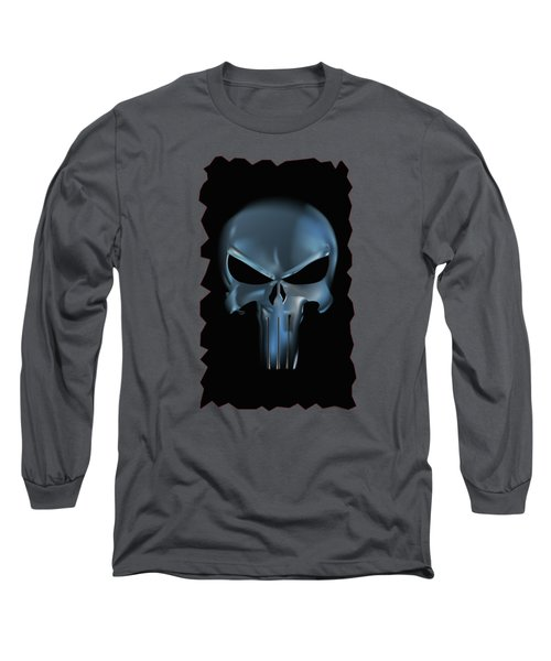 The Punisher Scary Face Long Sleeve T-Shirt