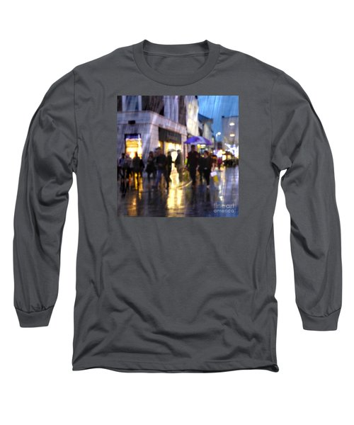 Long Sleeve T-Shirt featuring the photograph The Purple Umbrella by LemonArt Photography