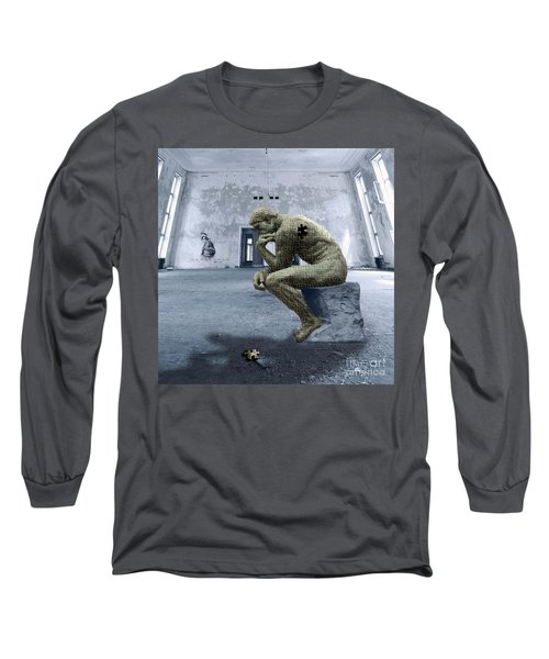 Long Sleeve T-Shirt featuring the photograph Puzzled by Juli Scalzi