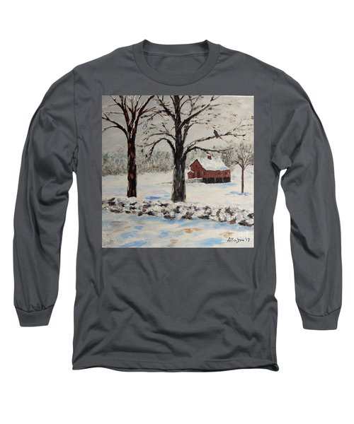 The Red Barn Long Sleeve T-Shirt by Stanton Allaben