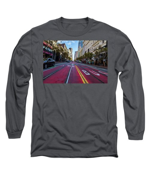 Long Sleeve T-Shirt featuring the photograph The Red Path by Darcy Michaelchuk