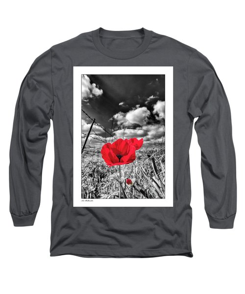 The Red Spot Long Sleeve T-Shirt by Arik Baltinester