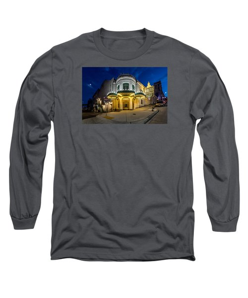 Long Sleeve T-Shirt featuring the photograph The Rialto Theater - Historic Landmark by Rob Green