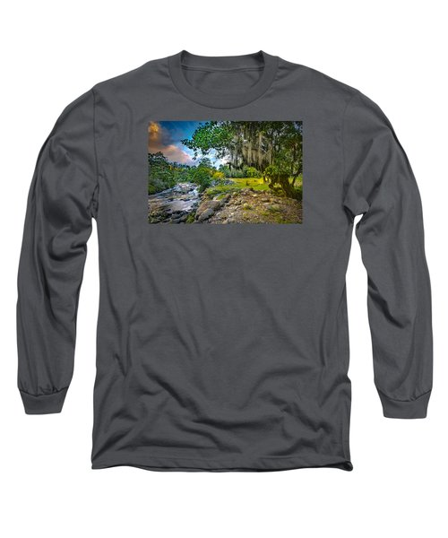 The River At Cocora Long Sleeve T-Shirt