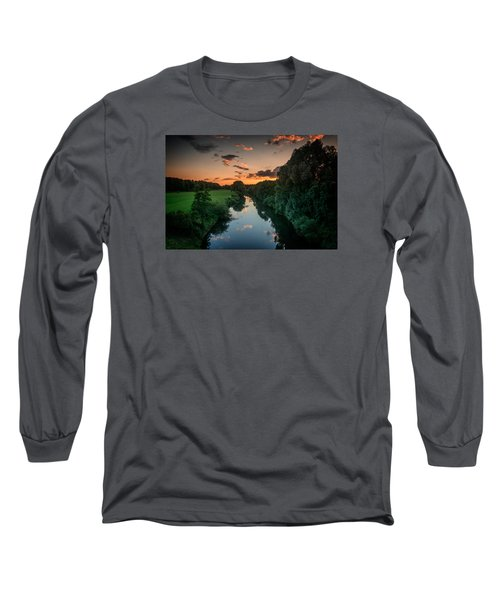 The River Lippe In Lower Rhine Region Long Sleeve T-Shirt