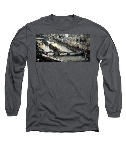 The River Seine - Paris Long Sleeve T-Shirt
