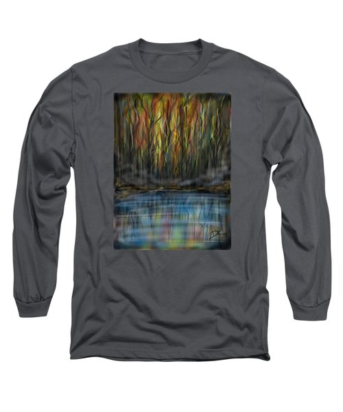 The River Side Long Sleeve T-Shirt by Darren Cannell