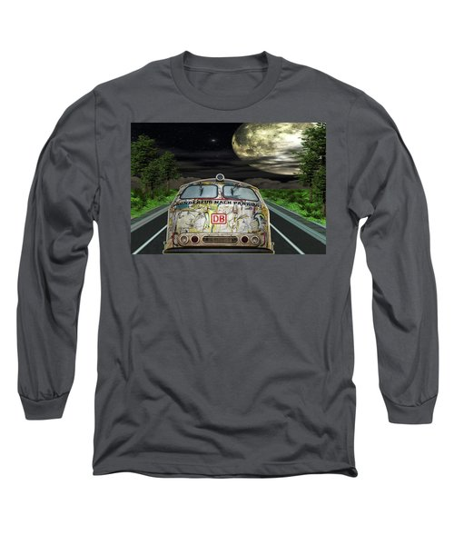 Long Sleeve T-Shirt featuring the digital art The Road Trip by Angela Hobbs