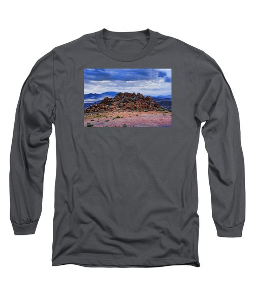 The Rock Stops Here Long Sleeve T-Shirt by B Wayne Mullins