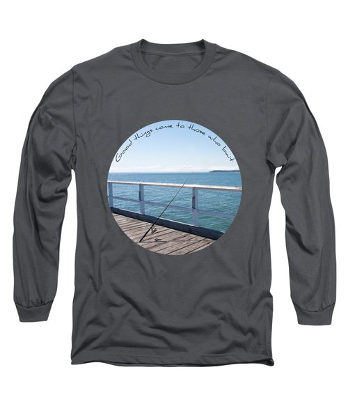 Long Sleeve T-Shirt featuring the photograph The Rod by Linda Lees