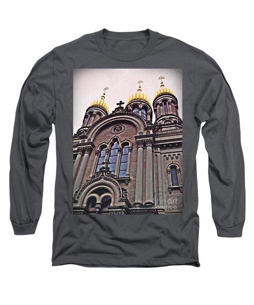 The Russian Church In Wiesbaden 2 Long Sleeve T-Shirt by Sarah Loft