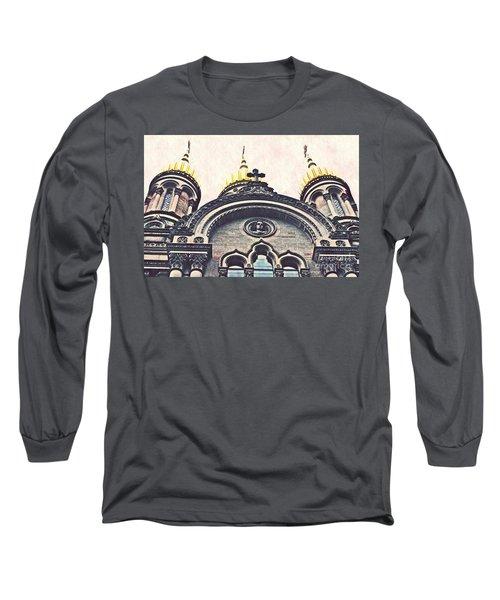 The Russian Church In Wiesbaden Long Sleeve T-Shirt by Sarah Loft