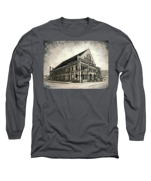 Long Sleeve T-Shirt featuring the painting The Ryman by Janet King