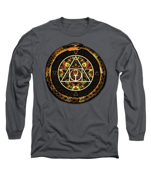 The Sacred Alchemy Of Life Long Sleeve T-Shirt by Iowan Stone-Flowers