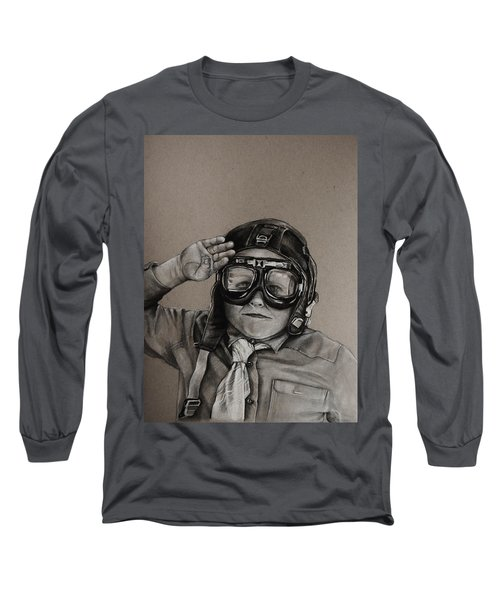 The Salute Long Sleeve T-Shirt by Jean Cormier