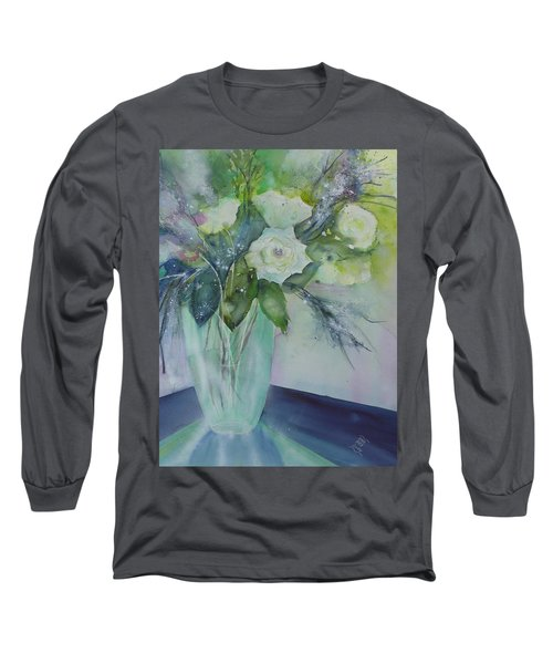 Flowers - White Roses Long Sleeve T-Shirt