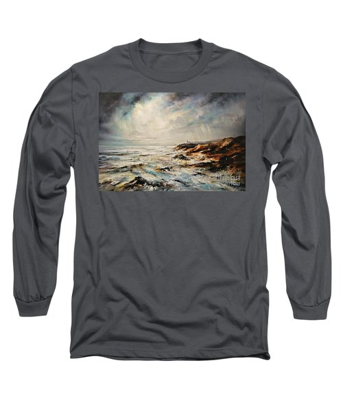 The Sea  Long Sleeve T-Shirt by AmaS Art