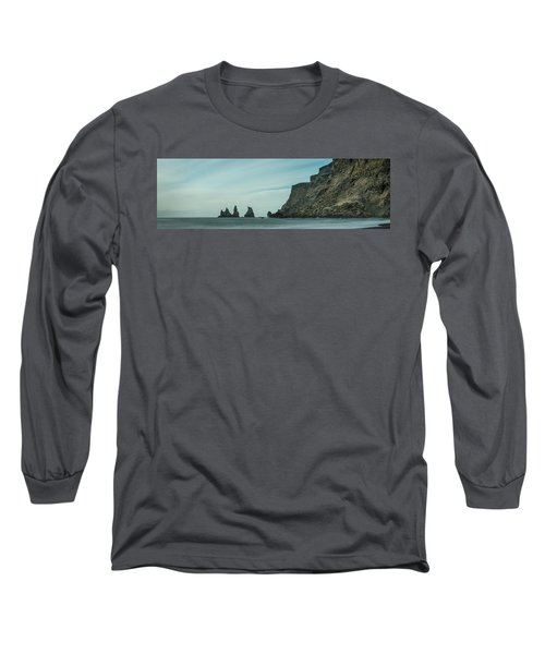 The Sea Stacks Of Vik, Iceland Long Sleeve T-Shirt