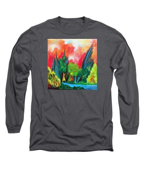 The Secret Stream Long Sleeve T-Shirt by Elizabeth Fontaine-Barr