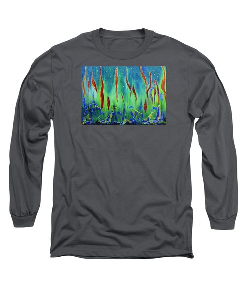 The Secret World Of Water And Fire Long Sleeve T-Shirt by AmaS Art