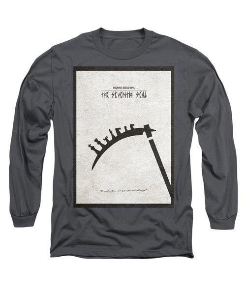The Seventh Seal Aka Det Sjunde Inseglet Long Sleeve T-Shirt by Ayse Deniz