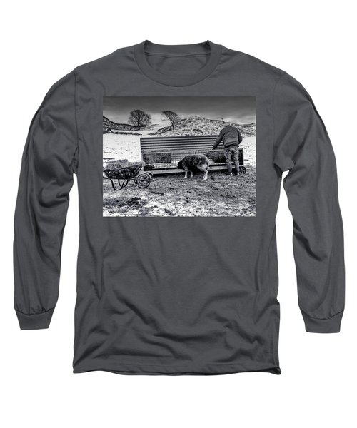 Long Sleeve T-Shirt featuring the photograph The Shepherd by Keith Elliott
