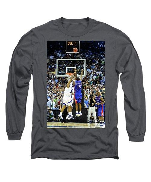 The Shot, 3.1 Seconds, Mario Chalmers Magic, Kansas Basketball 2008 Ncaa Championship Long Sleeve T-Shirt
