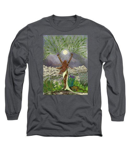 The Singing Girl Long Sleeve T-Shirt by FT McKinstry